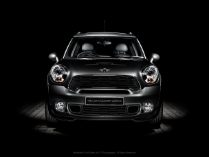 Automotive photography front of a Johnny Cooper Works Mini Countryman