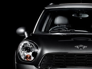Automotive photography front detail of a Johnny Cooper Works Mini Countryman