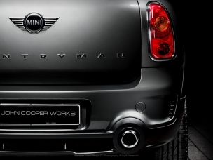 Automotive photography rear detail of a Johnny Cooper Works Mini Countryman